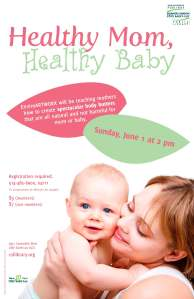 healthy mom healthy baby poster 11x17 2014-04
